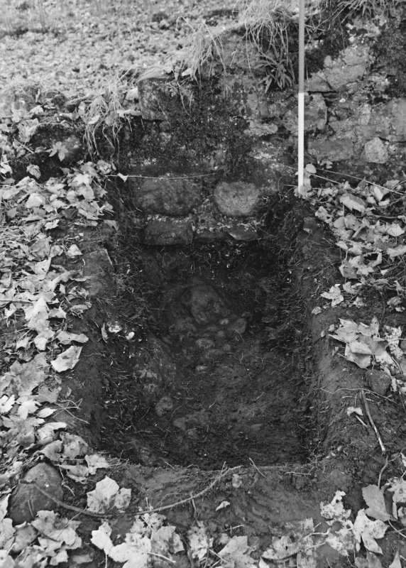 Inverlochy Castle Frame 30 - Trench D: east side; from east