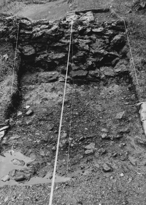 Inverlochy Castle Frame 17 - East side of Trench B excavated; from east
