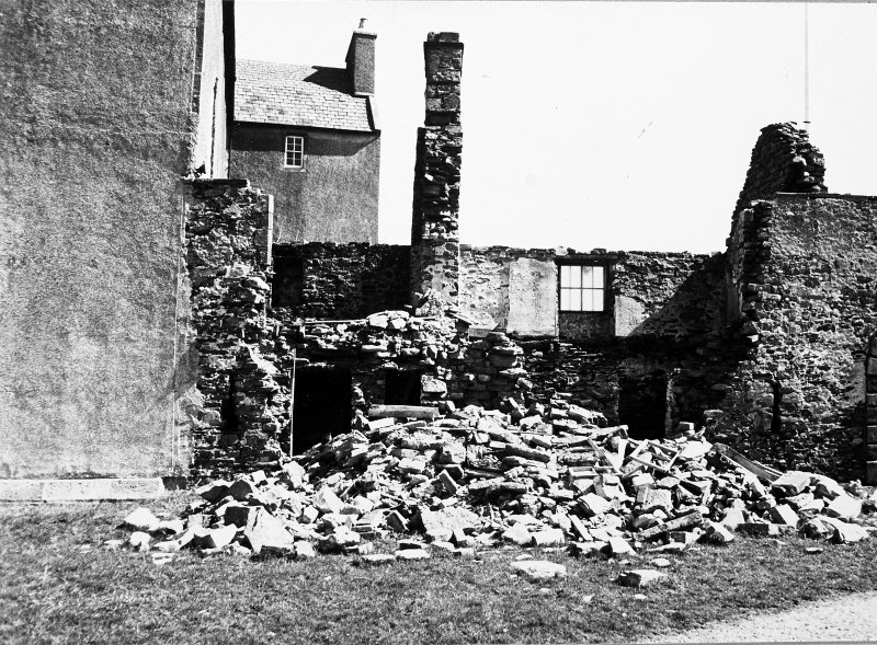 View of derelict range. Detail of collapse.