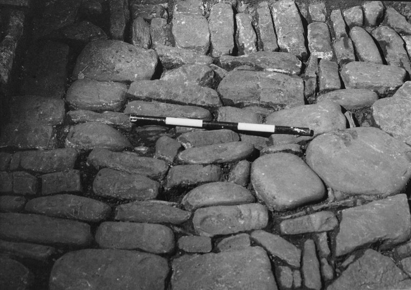 Excavation photograph. Cobbled surface. October 1979.