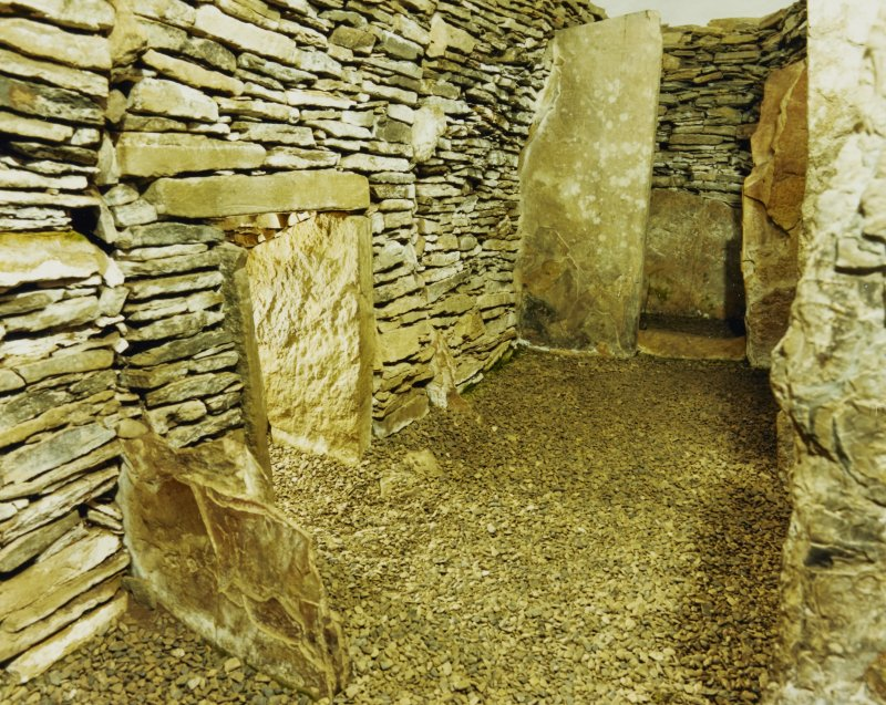 Unstan Cairn Interior of Cairn showing side cells & stalls