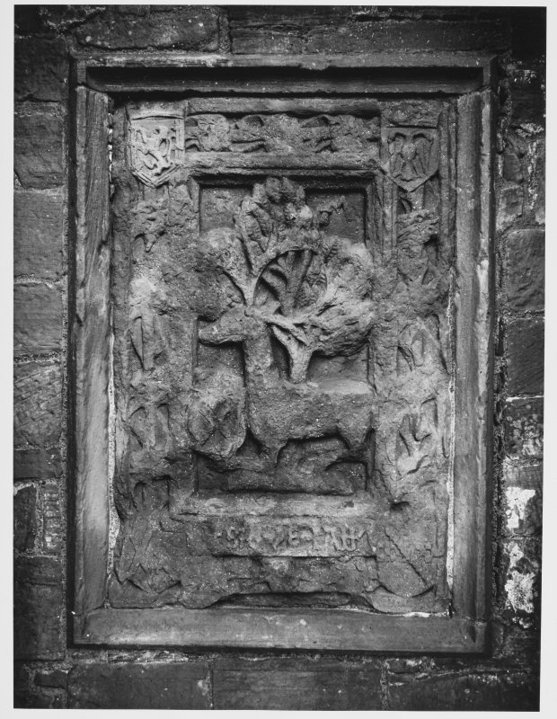 Caerlaverock Castle, Heraldic Panel bebore Preservation Treatment