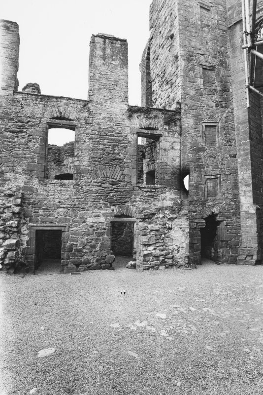 Caerlaverock Castle, Courtyard Elevation of West Block
