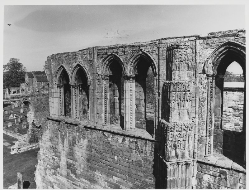 Elgin Cathedral Progress of Work of East Elevation AM/ARCH DH 13.5.82