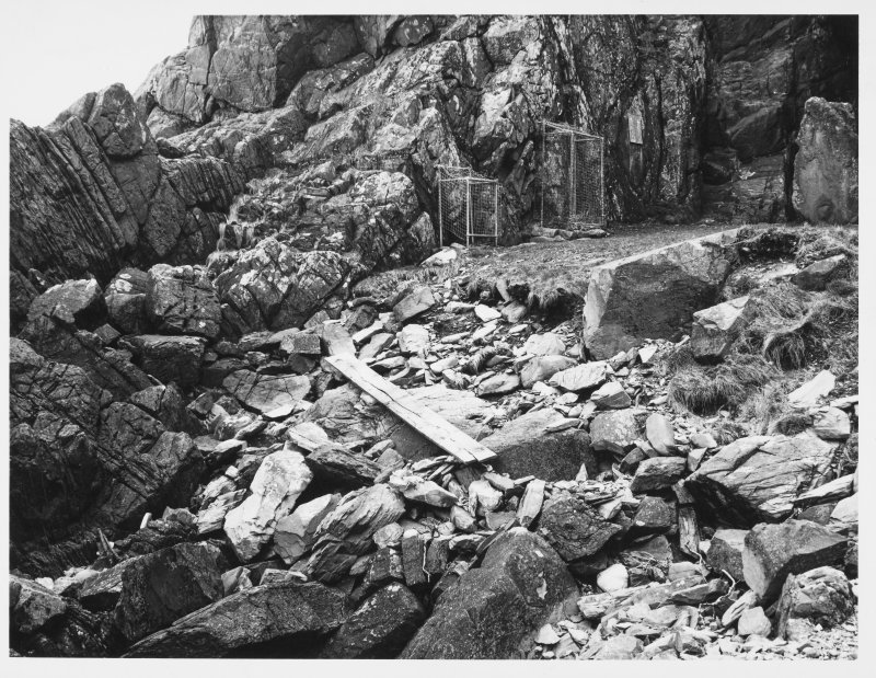St Ninians Cave Storm Damage (Whithorn Primary) 11.4.62
