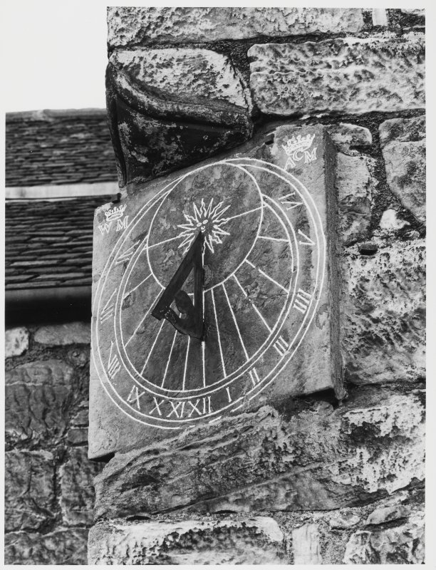 Aberdour Castle, Sundial (Wall Panel), sw Gable, Custodians House)
