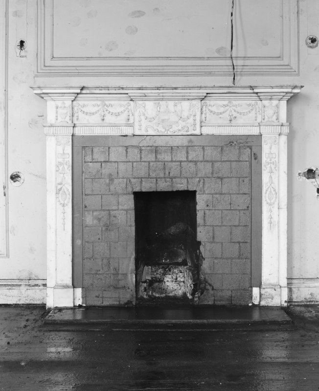 Detail of fireplace.