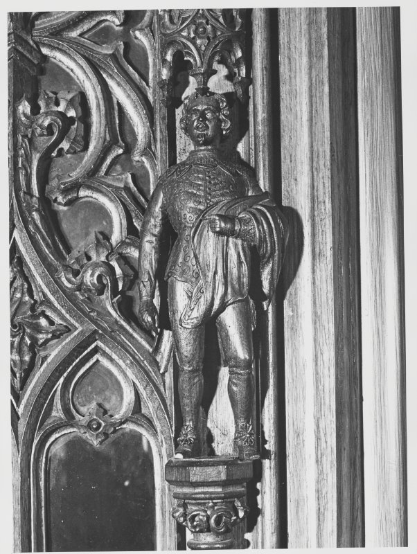 Taymouth Castle (C.D) Library Doors + Carved Figures