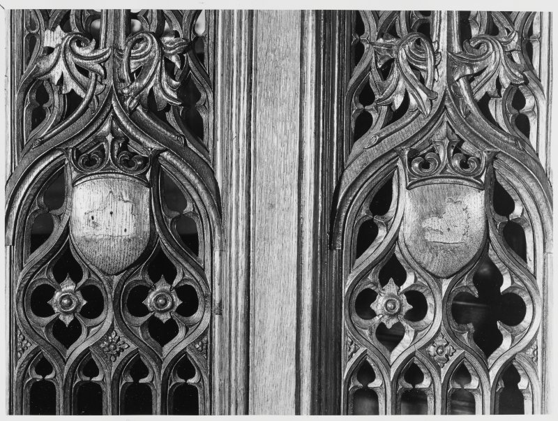 Taymouth Castle, Civil Defence Wood Carvings + Detail of Fireplace