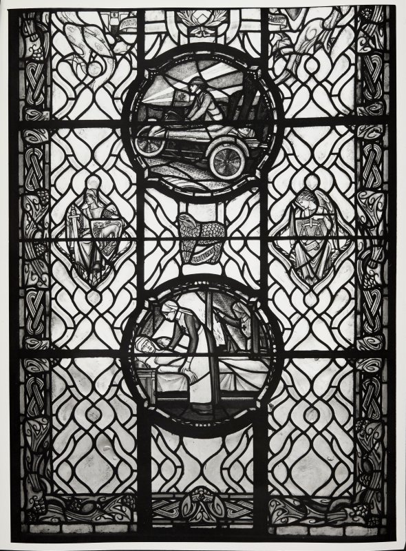Edinburgh Castle Scottish National War Memorial Windows and Plan