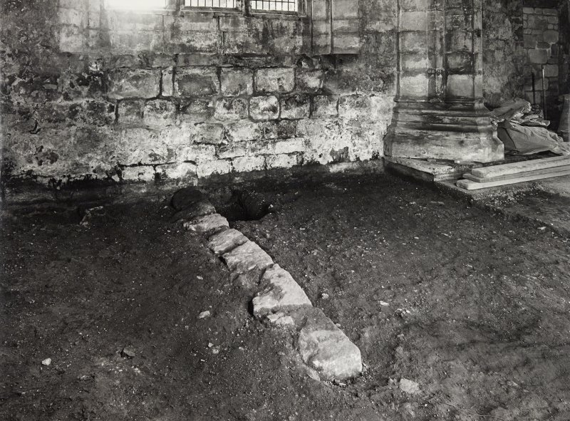 Torphichen Preceptory, General Views and Revealed Wall in Excavated Floor