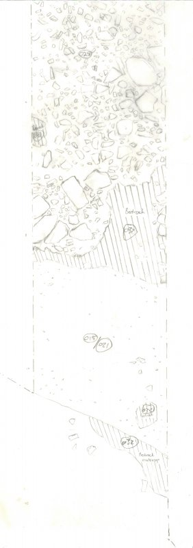 Archaeological evaluation, Scanned trench drawing, Part 1 of 7, Carghidown Castle