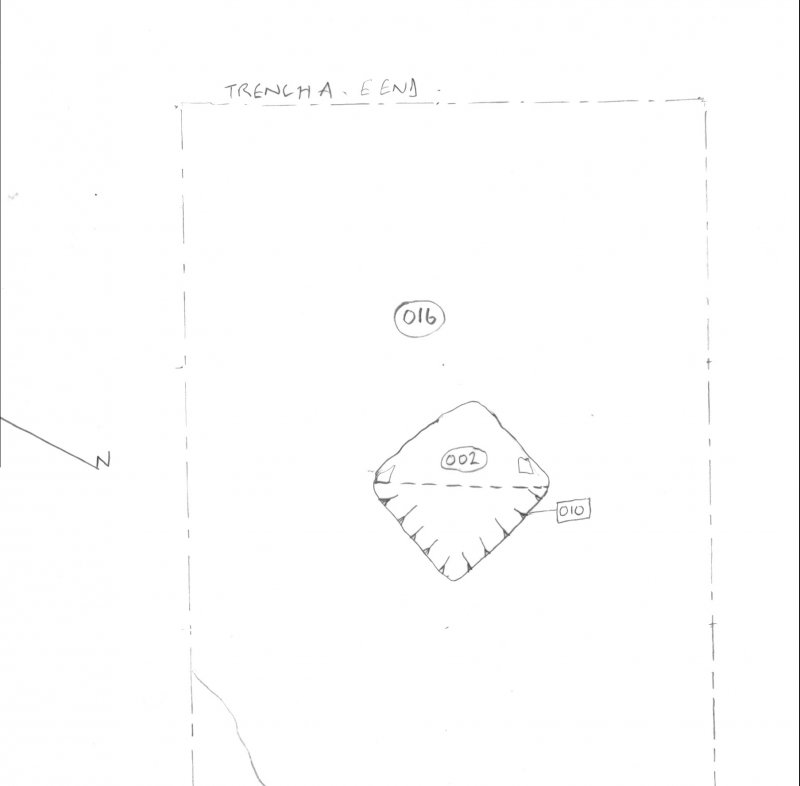 Archaeological evaluation, Scanned trench drawing, Part 7 of 7, Carghidown Castle