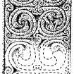 Scanned drawing of detail from interlace shaft panel on face of cross-slab (St Vigeans no.7).
