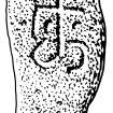 Scanned ink drawing of Dyce 6 incised cross