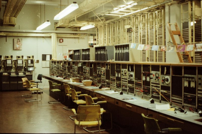 This is an image of the test suites for testing the trunk junctions which were used to carry long distance telephone calls between cities.