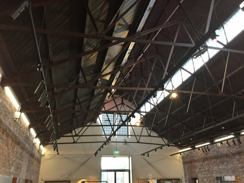 Interior roof space of the Engine Shed, Stirling