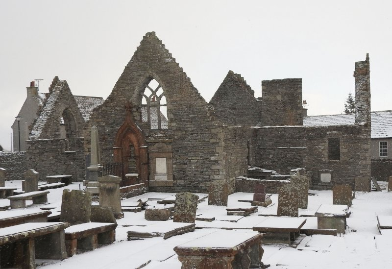 Old St Peter's in the snow.