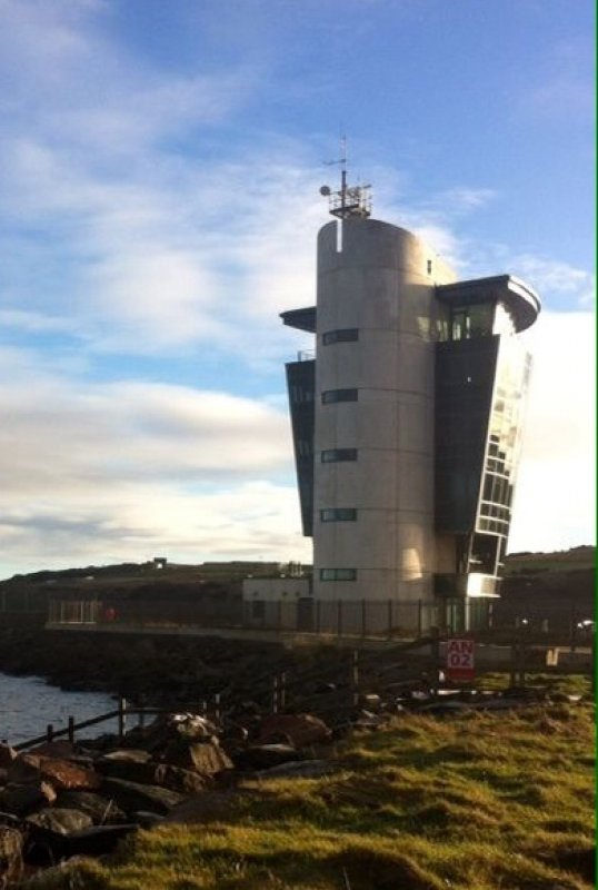 1/1/18-  The Marine Operations Centre on the North Pier, Footdee at the entrance of Aberdeen Harbour.